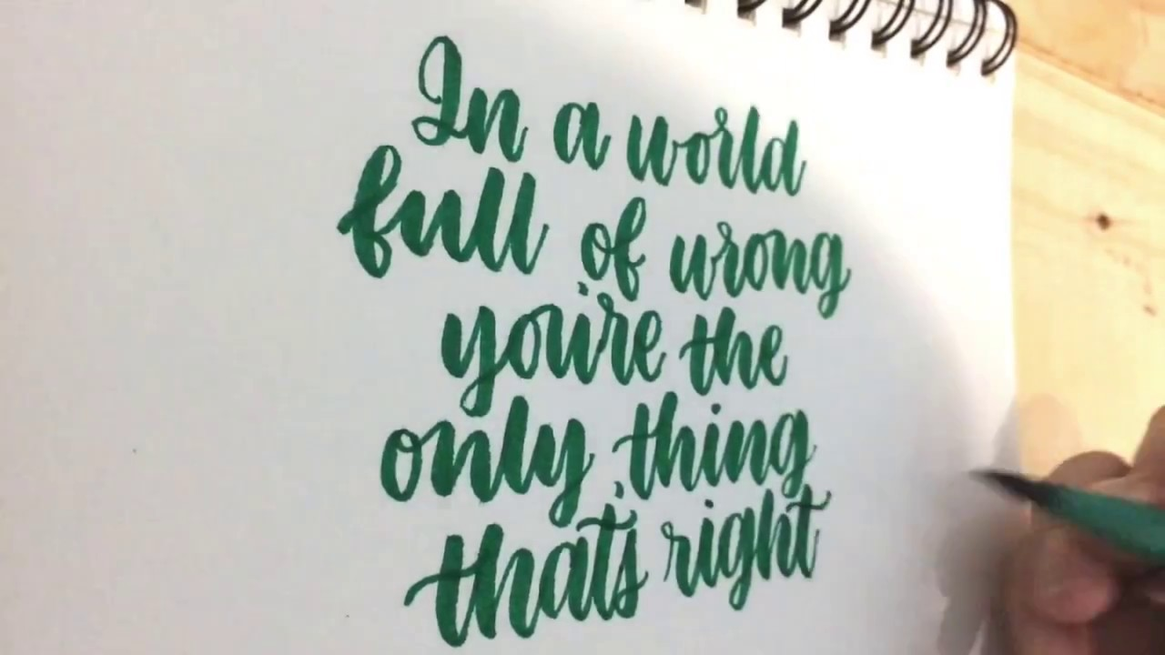 Faber Castell Calligraphy Brush Pen Sample Tutorial