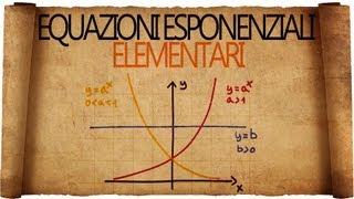 Equazioni Esponenziali Elementari - Spiegazione con Esempi Svolti