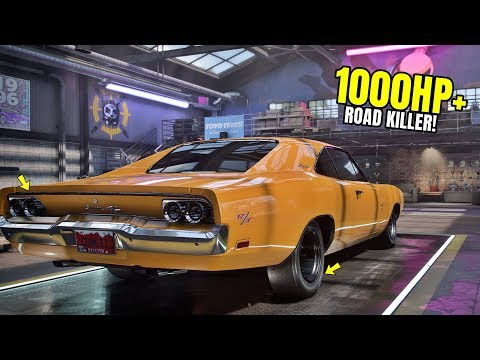 Need for Speed Heat Gameplay - '69 DODGE CHARGER 1000+HP Customization | Dodge Charger '69 Max Build