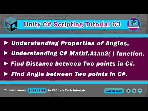 C# Unity 63 - Angles, Atan2, Find distance & angle between 2 points