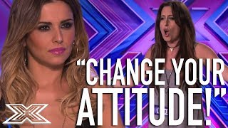 Cheryl Clashes With Contestant  X Factor Global
