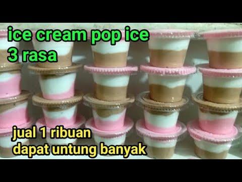 IDE BISNIS!!! cara membuat ice cream pop ice!! IDE USAHA