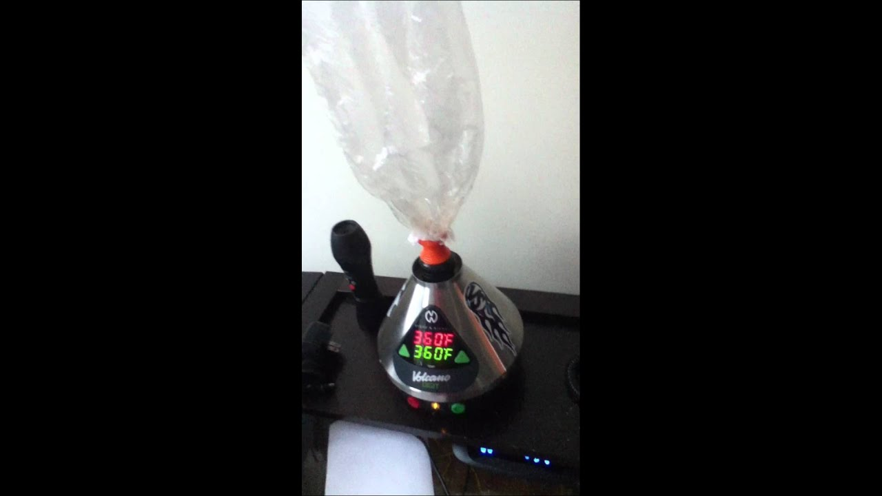 Volcano Digit Bag Inflating Vaporizer In Action