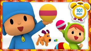 ⚽ POCOYO in ENGLISH - COLOR BALLS [101 min] | Full Episodes |VIDEOS & CARTOONS for KIDS