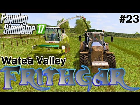 Let's Play Farming Simulator 2017, Watea Valley #23 Silaging Using Follow Me!