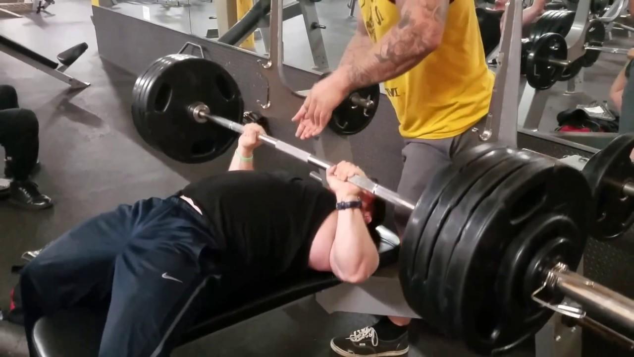 435 Pound Bench Press 3 Reps 200 Pound Bodyweight Youtube