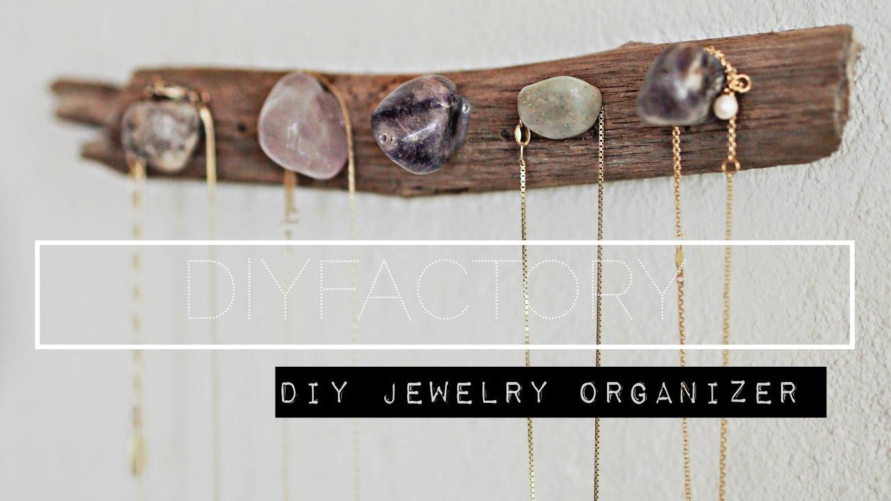 attractive Driftwood Jewelry Holder Part - 4: DIY - driftwood jewelry organizer