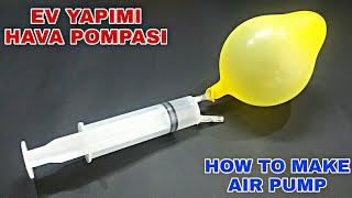 Hava Pompası Yapımı Ev Yapımı  How To Make Air Pump