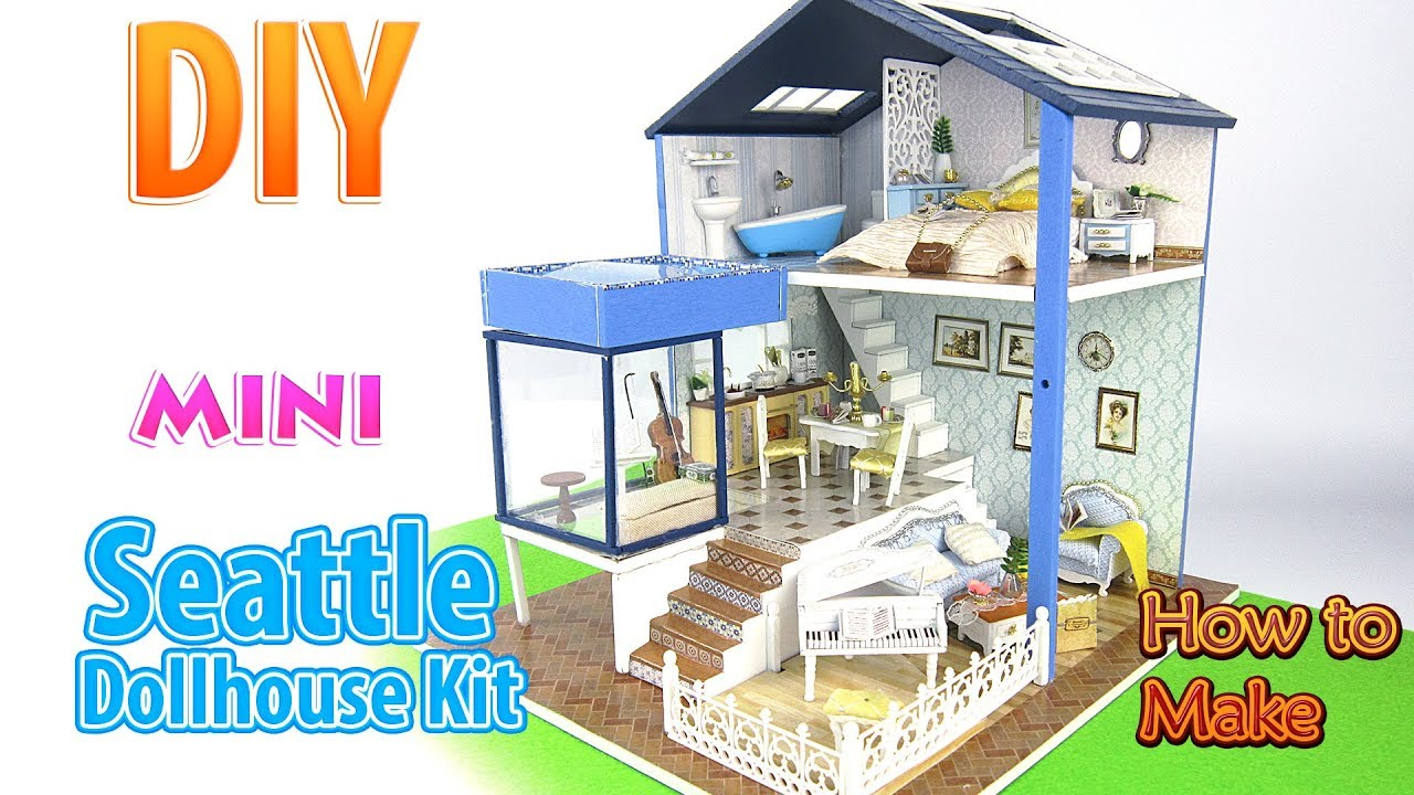 Diy Miniature Dollhouse Kit Dollhouse Youtube