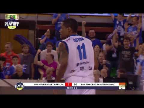 HIGHLIGHTS G3 LBA Playoff PosteMobile/ Germani Basket Brescia - EA7 Emporio Armani Milano 74-80