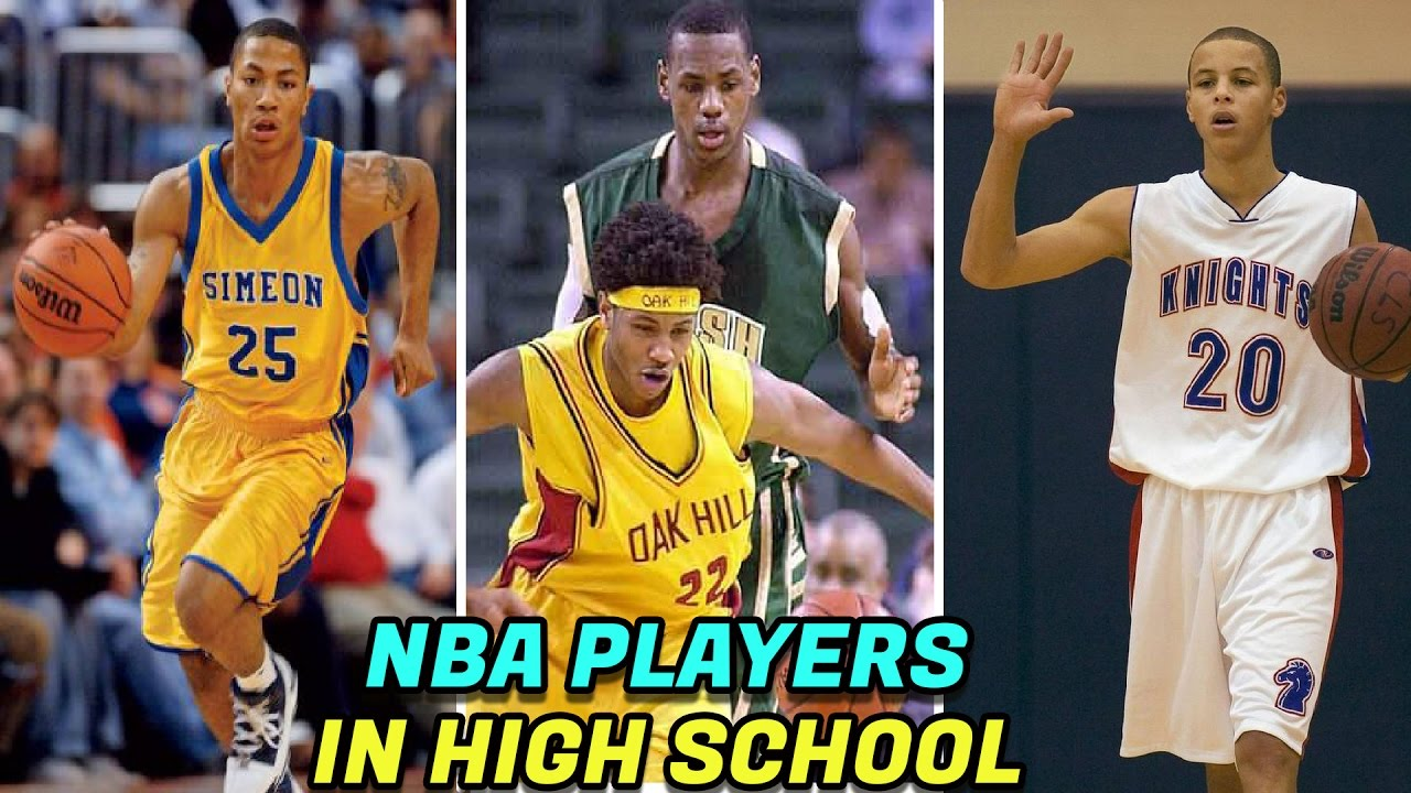 10aa251da145 NBA STARS When They Were In HIGH SCHOOL! LeBron James