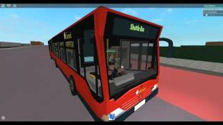 Roblox London Hackney & Limehouse bus simulator Mercedes Citaro G on Shuttle bus part 1