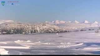 Okstindan sett fra Korgfjellet - 24 timer på 28 Sek