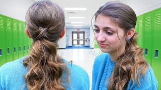 Criss Cross Ponytail Hairstyle | Hairstyles for School
