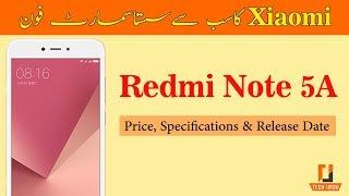 Xiaomi Redmi Note 5A Price in Pakistan