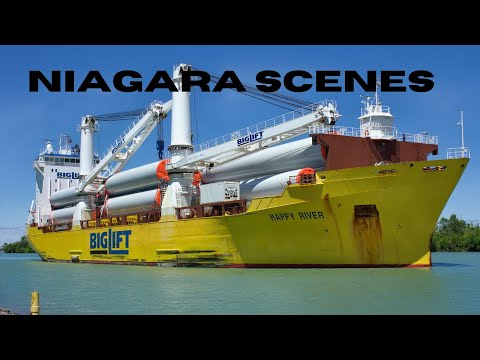 Heavy Lift Cargo Ship HAPPY RIVER Transits the Welland Canal