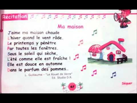Hajar Lit Poésie Ma Maison 3 Eme Année Primaire Marocaine