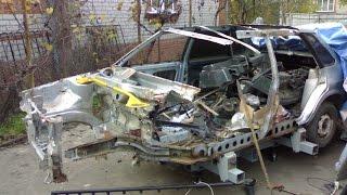Кузовной ремонт и покраска ВАЗ (LADA) 21099(Кузовной ремонт и покраска ВАЗ 21099i. Ремонт и покраска кузова ваз 21099i 2002 года выпуска. Подробнее на моем..., 2014-05-19T07:17:09.000Z)