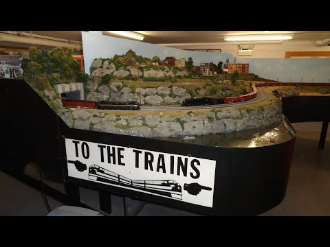 Elmhurst Model Railroad Club has MASSIVE HUGH HO H.O. Gauge Scale train track layout ! Part 1 of 2