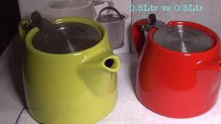 ForLife Stump Porcelain Teapot with SS Basket Infuser unpack
