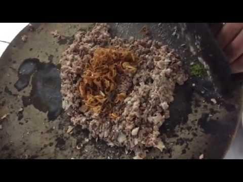 Cách đánh tiết canh vịt - Duck blood pudding