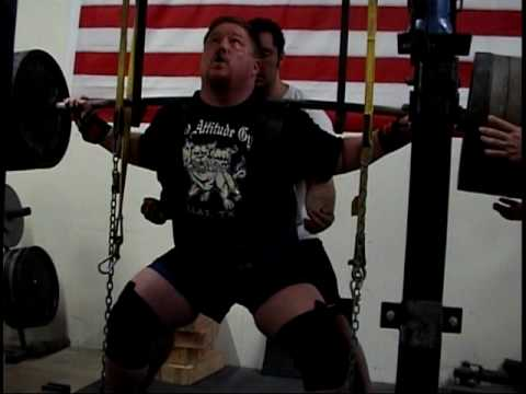 Henry Thomason @ Bad Attitude Gym Squat Training 1100 for Pro/Am 2010 Powerlifting Meet
