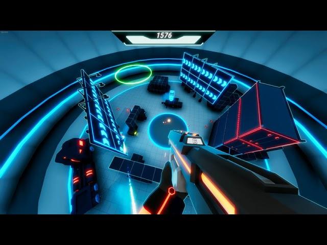 Get To The Orange Door Early Access PC gameplay - Cyberpunk arena