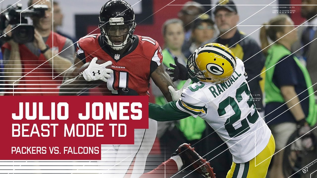 Julio Jones Beast Mode 73 Yard TD Packers vs Falcons