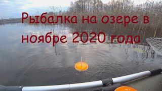 Рыбалка на озере в ноябре 2020 года