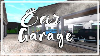 I built a Car Garage on Bloxburg!