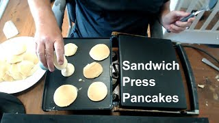Live Cook - Making Pancakes on my Sandwich press