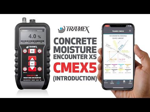 Tramex Concrete Moisture Encounter X5 - CMEX5 - Introduction