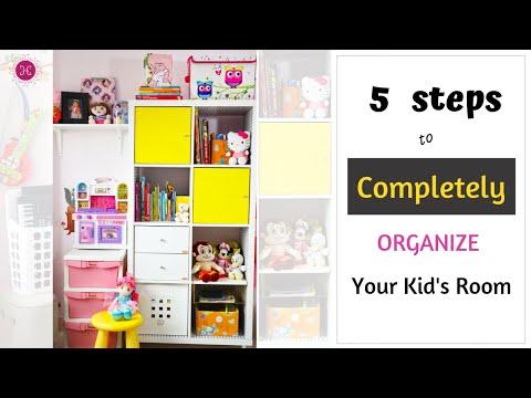 5 BEST Steps To Organize Any Kids Room / Toy Storage Organization Ideas