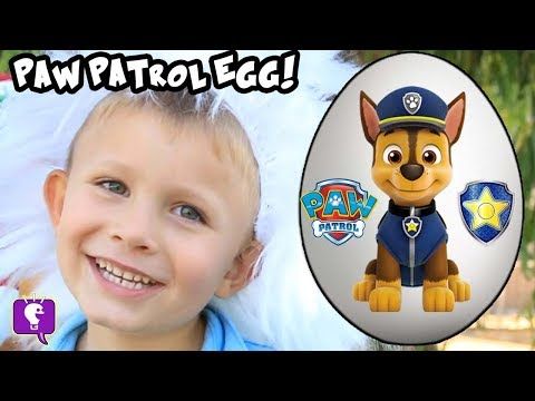 Thumbnail: Giant PAW PATROL Surprise Egg! Funny Goat Adventure + Toy Reviews with HobbyKidsTV