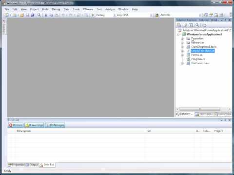 Generate Code in Visual Studio with the T4 Text Templates - tangible ...