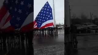 Flag Raising Over Cesspool