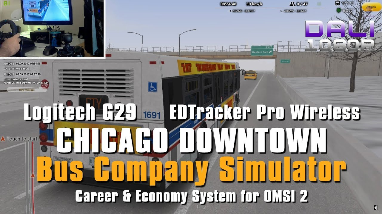 417da583f4c OMSI 2 BCS Chicago Downtown Add-on Logitech G29 + EDTracker Pro Wireless  (Wheel Cam)