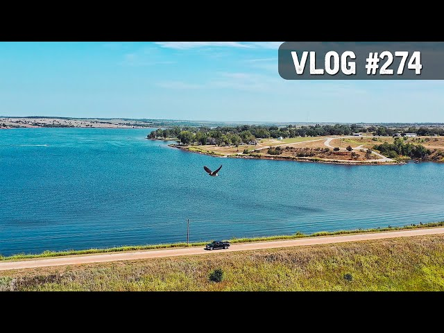 VLOG #274 / 11 Mile Bike Ride & Lake DRONE FLYING! / July 17, 2020