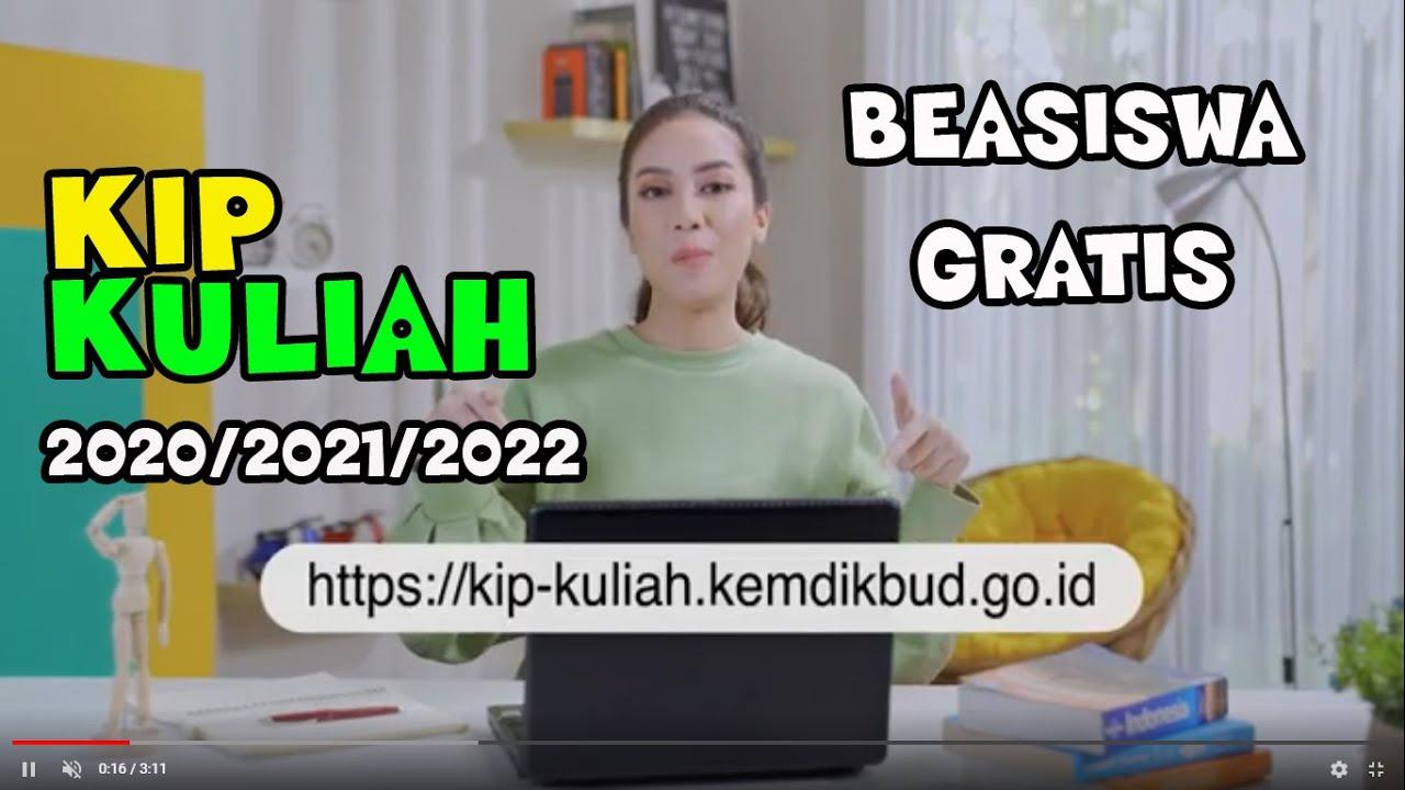 Cara Daftar Kip Kuliah Mendapatkan Beasiswa Kip Kuliah 2020 2021 2022 Beasiswa Kip Kuliah Youtube