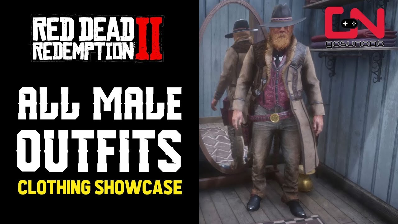 Red Dead Redemption 2 Online All Male Outfits Clothing Showcase