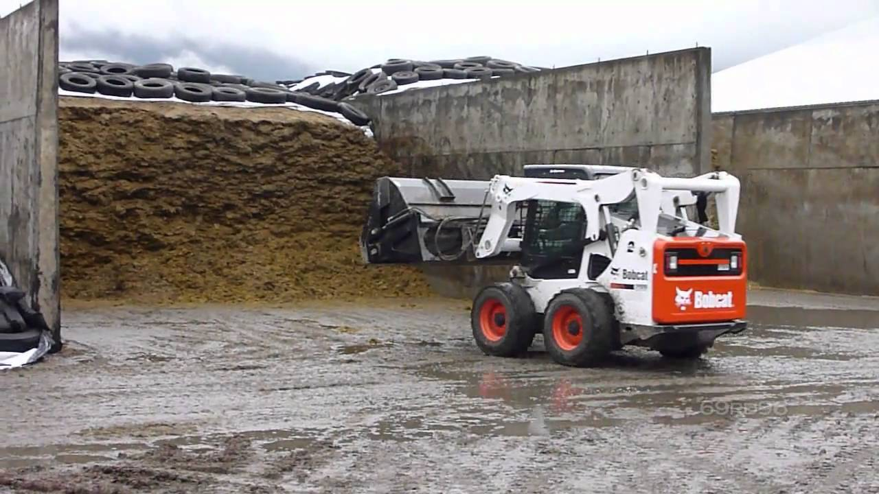 Skid Steer Bucket >> Bobcat S650 and Horst Roll out bucket - YouTube