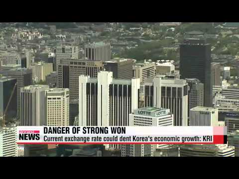 Current won dollar exchange rate could dent Korea's economic growth KRI