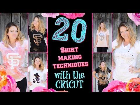 20 Shirt Making Techniques With The CRICUT EXPLORE AIR 2!