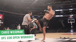 UFC 230: Chris Weidman Open Workout