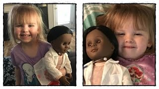 Girl, 2, defends her choice of doll to cashier