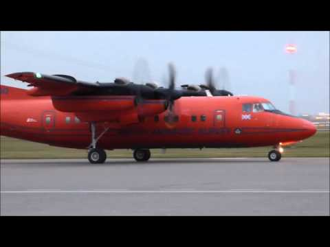 British Antarctic Survey's Dash 7 landing at runway 35R YYC