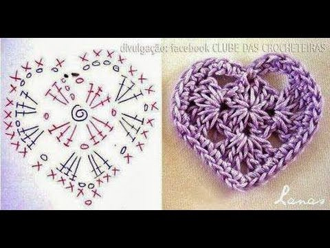 CORAZON EN CROCHET - YouTube
