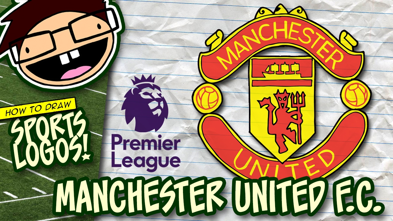 How To Draw Manchester United Logo English Premier League Narrated Easy Step By Step Tutorial Youtube