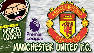 How to Draw MANCHESTER UNITED Logo (English Premier League) | Narrated Easy Step-by-Step Tutorial