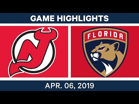 NHL Game Highlights   Devils Vs. Panthers – April 06, 2019